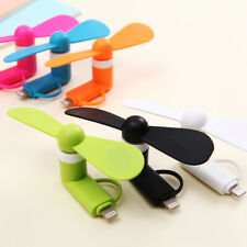 2-in-1 Mini Cell Phone Fan for iPhone/iPad and Android Portable Ventilation Fans