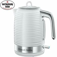 Russell Hobbs 24361 Inspire Electric Kettle 3000W 1.7 Litre WHITE Chrome Accents