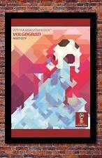 "2018 FIFA World Cup Russia Poster Soccer Tournament | Volgograd | 13"" x 19"""