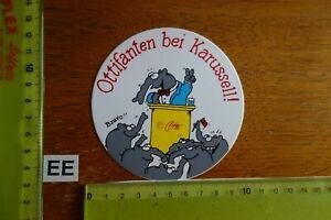 Alter Aufkleber Bühne Film Kino Video Comic Otto Walkes OTTIFANTEN BEI KARUSSELL