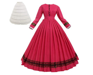 18th century Victorian Civil War Ball Gown Southern Belle Dress Vintage Costume