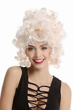 Perücke Damenperücke Barock Rokoko kurz Korkenzieherlocken weiß blond lockig