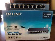 Tp-Link 8-Port Gigabit Ethernet Switch Ethernet Splitter Tl-Sg108 w/ Ac Adapter