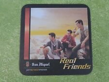 Beer Pub Coaster <> SAN MIGUEL Phillipines Brewery ~*~ Just Between Real Friends