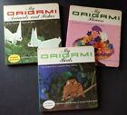 Set of 3 - Vintage My ORIGAMI Books - Animals & Fishes, Birds, Flowers