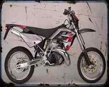 GAS GAS SM 125 02 A4 Imprimé Photo moto Vintage Aged