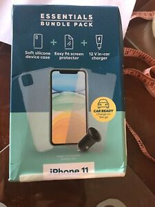 Free Post,Essentials Iphone 11 Bundle Protector In Car Charger ,6,7,8,9,10,SE,X