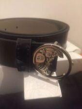 Versace Collection Patent Leather Belt with Silver Hardware Sz 30, 32, 34 £190