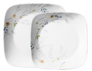 1 Corelle BOUTIQUE Square ADLYN *Choose: DINNER or LUNCH PLATE Watercolor Floral