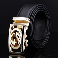110CM Design Belts Men High Quality Automatic Buckle Black fashion Leather Belt