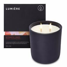 NEW Lumiere Black Hypnotic Haze Candle Bamboo, Lily & White Musk Fragrance Aroma