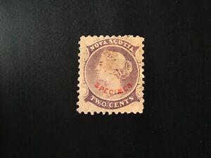 """JPS_Stamps! - Nova Scotia #9p... """"Forgery Specimen"""" (vf/hinged)"""