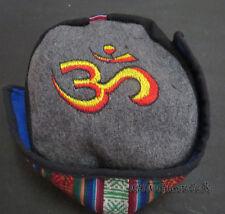 C58 OM embroidery Fashion Himalayan Cotton Sherpa Round Cap Nepal Tibet