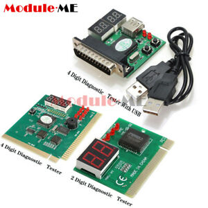 Digital LED 2/4 Analysis Diagnostic Tester POST Card PCI PC Analyzer Motherboard