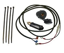 "12V Accessory Socket (DIN/Hella type - 37mm) + 2m (79"") Loom (Glass) + 10A Plug"
