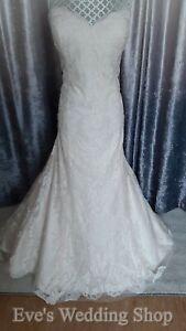 WTOO oatmeal/ivory colour wedding dress UK size 16 - check measurements