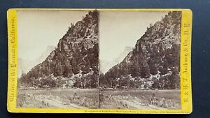 Yosemite California Stereoview Canyon of South Dome by Anthony 1870s