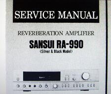 Sansui RA-990 reverb amp service manual inc blk diag schem diag pcb anglais
