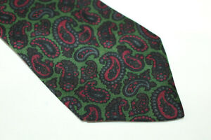 HOLLIDAY BROWN Silk tie Made in England F16352
