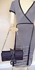 Givenchy Chain Strap Leather Bow Front Clutch Handbag Satchel