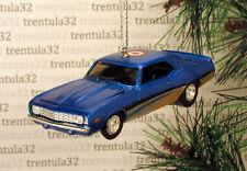'69 CHEVY CAMARO 1969 CHEVROLET BLUE SILVER YELLOW CHRISTMAS TREE ORNAMENT XMAS