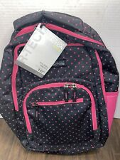 NEW!! Kenneth Cole Reaction R-Tech Backpack Black/Pink