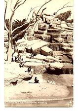 Monkey Island Enclosure-Zoological Garden-RPPC-Vintage Real Photo Postcard