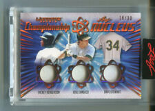 2021 LEAF ULTIMATE SPORTS 3 JERSEY /30 RICKEY HENDERSON/JOSE CANSECO/STEWART