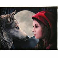 Moon Struck - Red Riding Hood Medium Canvas - Art Print by Lisa Parker 40cm