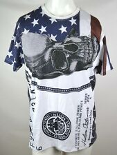 Hudson Outerwear 1000 Dollar Bill USA Flag Rhinestone Skull T-Shirt Men's Large