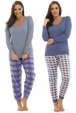 Pyjama Sets Check Long Sleeve Lingerie & Nightwear for Women