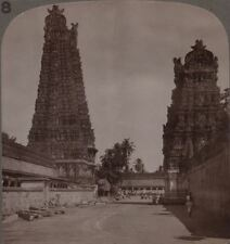 India. Inconceivably Elaboration & Splendour of Madura's Hindu Temple Stereoview