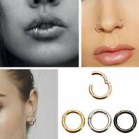 8mm 10mm 16g Steel Hinged Segment Clicker Ring Hoop Ear Lip Nose Septum Helix