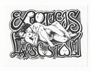 JORGE OLIVERIA: Exlibris  / ex eroticis für Lars C. Stolt, 1984