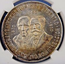 1960 MO Mexico S10P 10 Pesos INDEPENDENCE ANNIVERSARY Certified NGC MS62