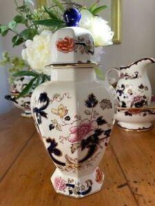 Mason's Ironstone Blue Mandalay Large 32 cm. Lidded Tokyo Vase -Superb Condition