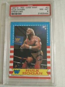 1987 topps OPC WWF Wrestling Hulk Hogan PSA 8