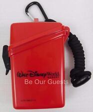Walt Disney World Parks WaterProof Card Money Holder Red Large New