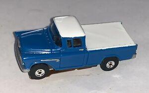 Slot Car Blue Pickup Truck Motor Modeling HO