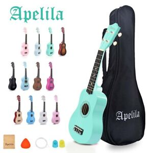 21 Inch Ukulele Wood Hawaii Guitar Concert Ukulele Kit with Gig Bag Strings Set