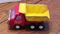 Buddy L Dump Truck Steel Red and Yellow Vintage Pressed Steel Toy Like Tonka