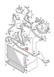 Genuine AUDI Q3 84B 84G 8UB 8UG Coolant Pipe 5N0121070S