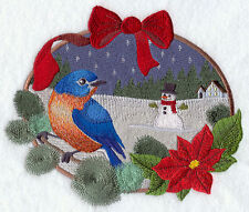 Embroidered Ladies Fleece Jacket - Bluebird and Snowman F6234 Sizes S - XXL