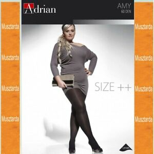 * AMY * PANTYHOSE FOR WOMEN WITH CURVY SHAPES NEW COLLECTION * 60 DEN * XL-4XL U