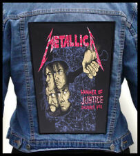 METALLICA - Hammer Of Justice Crushes You --- Giant Backpatch Back Patch