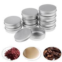 10pcs KIT TIN Small Empty Pot Plain Metal Storage Bit Box Mini Lip Balm