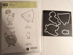 STAMPIN UP Hey chic set & matching dies by dave! Rare