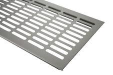 Aluminium Lüftungsgitter Stegblech Edelstahl optik Breite 130mm diverse Längen