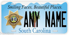 South Carolina Sheriff Any Name Number Novelty Car Auto License Plate