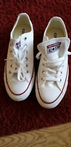 Converse All Star ox Canvas unisex Trainers Shoes White Size 6 UK / 39 EU
